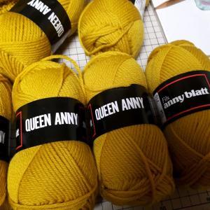 ガーター編みブランケット編み始めた
