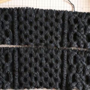 アラン模様のセーターその1