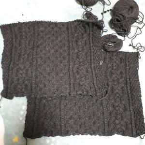 アラン模様のセーターその2