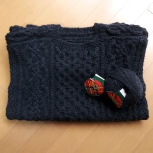 アラン模様のセーター4