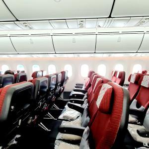 JAL成田行きフライト機内食