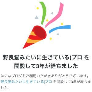 【はてなブログ】ブログ3周年