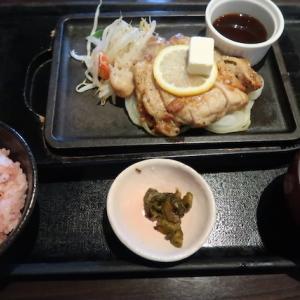 富谷市明石台・石焼ステーキ 贅で「チキンステーキランチ」//鶏さんも柔らかステーキ。キャッシュレス5%還元中。