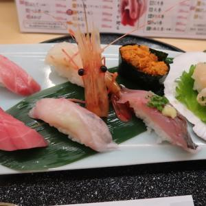 福島市JR福島駅・うまか亭で「握り・粋な7貫セット」//福島駅の回転寿司屋はうまか、うまか。
