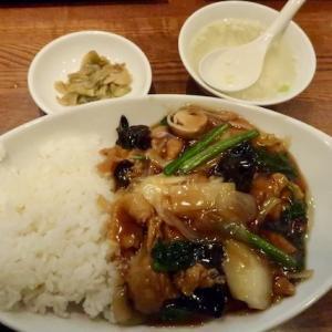 若林区中倉・上海厨房で「肉うま煮飯」//中華飯の肉多め版。(ランパス利用)