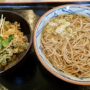 多賀城市町屋前・そばの神田で「かけそば+小柱天丼」//立ち食い禁止の立ち食いそば店