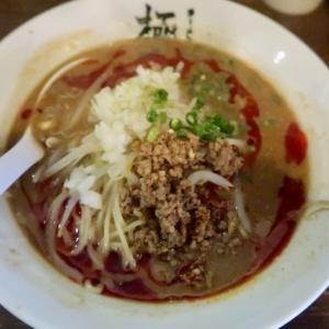 宮城野区田子新入・ラーメン堂 極で「濃厚味噌担々麺」//のれんに極めて年季が入っていました(ランパス利用)