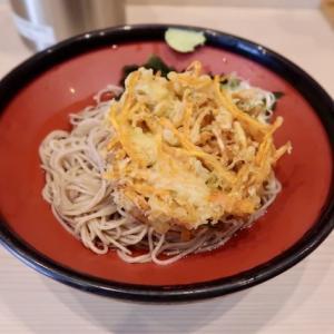 青葉区中央・そばの神田駅前南町通り店で「冷やし野菜かき揚げそば」//かき揚げ硬すぎ。