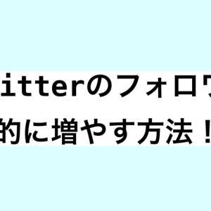 効果抜群!劇的にTwitterのフォロワーを増やす方法!