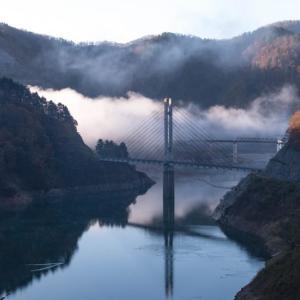 11月実践撮影塾  霧の日中ダム湖