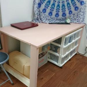 理想の机を自分で作りました!!