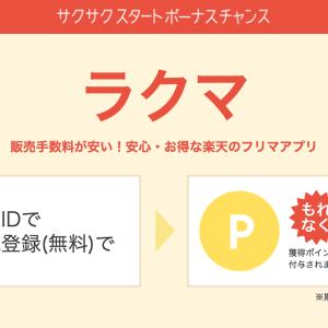 【楽天ポイント】5分で300ポイントを貯める方法(ラクマ編)