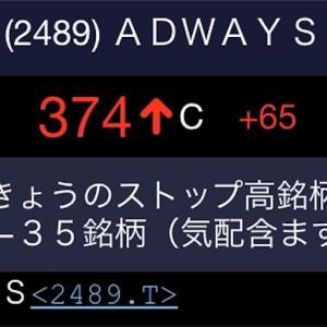 【祝】アドウェイズ 、黒字復活とストップ高!