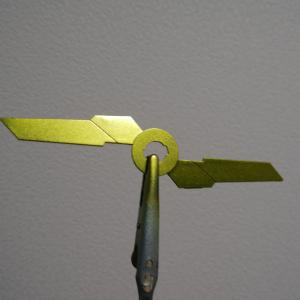 MGガンダムバンシィver.Ka制作日記#1「サイコフレームのメタリック塗装」