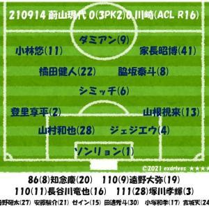 210914蔚山現代0(3PK2)0川崎(ACL R16)