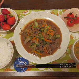 肉野菜炒め・抹茶アンサンブル