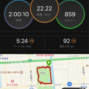 【週報21週目】猿江公園2時間Jog