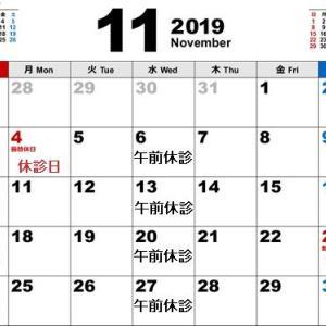 11月の診療日