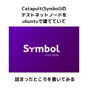 Catapult(Symbol)のテストネットノードをubuntuで建てていて詰まったところを書いてみる