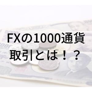 FX取引を【1000通貨単位】で行うメリットについて解説
