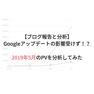 Googleアップデートの影響受けず!?2019年5月のPVを分析してみた