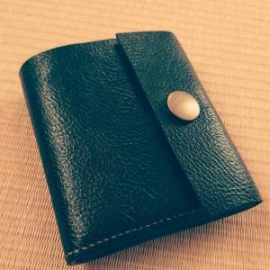 【レザークラフト】折り畳み財布