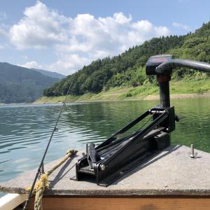 8月の真夏日に【神流湖】でバスを釣る!