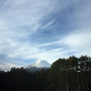 富士山はやはり冠雪していてこその美しさだなと感じ入る