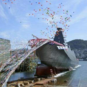 FFM1番艦「もがみ」進水