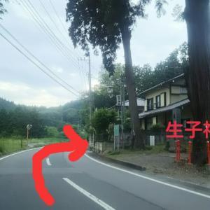 生子神社駐車場入り口