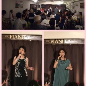 9月22日(日)の午後は、平嶋悦子(vo)さん、朝比奈まり子(vo)さんのライブでした