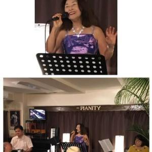 10月13日(日)の午後は、岡田美千代(vo)さんのライブでした!