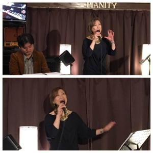 2月22日(土)の午後は、柴崎陽子(vo)さんのライブでした!