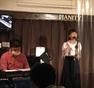 7月10日(金)の夜は、松実ちほ(vo)さんのライブでした!