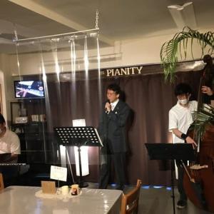 8月2日(日)の午後は、清水賢司(vo)さんのライブでした!