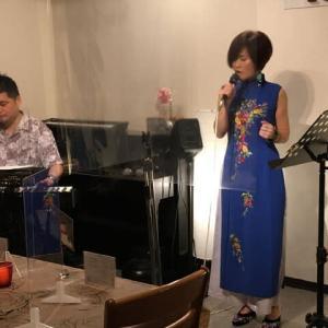 7月1日(木)は、宇田川よしの(vo)さんのライブでした!