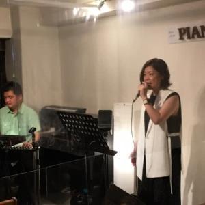 7月10日(土)の午後は、早坂亜紀(vo)さんのライブでした!