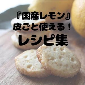 旬の国産レモンを皮ごと使う!甘酸っぱい塩レモンクッキーの作り方。