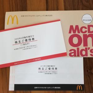 マクドナルドから優待が届きました