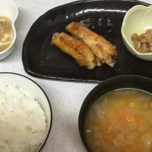 今日の夕食。名古屋風手羽先で簡単に