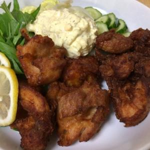 今日の晩御飯のおかずは「鶏の唐揚げ」