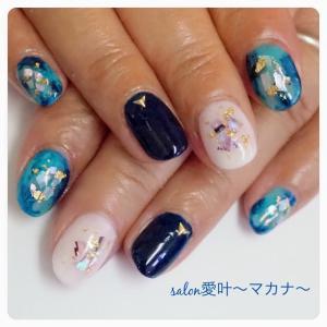 ☆ジェルネイル☆ 〜ブルー系夏ネイル♪〜