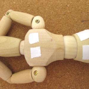 腰背部痛×グリーンイライト×広範囲パック