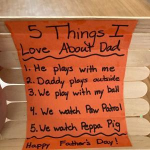 今日は、父の日。3歳児からプレゼントが・・