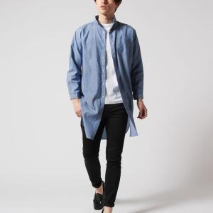 春 メンズのコーディネートはデニム地のシャツジャケットがかっこいい!