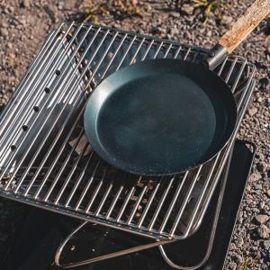 スノーピーク 焚火台でキャンプ飯に挑戦!!