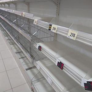 【スーパーから食品が消えた】コロナ東京感染増 小池都知事の自粛要請により食品買いだめで品薄に