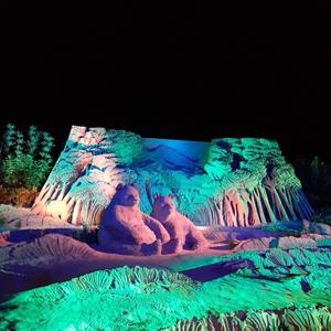 あしや砂像展2019-巨大サンドアートの動物たちは今にも動き出しそうにリアル!