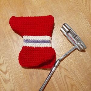 ゴルフパターの手作りヘッドカバー 100円毛糸でシンプルかぎ編み【簡易編み図】
