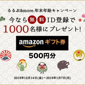 Amazonギフト券500円分など懸賞情報